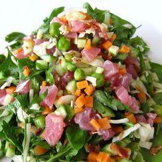 Ceviche Tuna Salad w. Green Peas & Bacon
