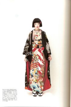 Kimono-hime issue Fashion shoot page 9 Traditional Kimono, Traditional Dresses, Traditional Japanese, Furisode Kimono, Mode Kimono, Harajuku, Japanese Geisha, Japanese Lady, Japanese Textiles