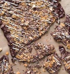 Recipe for Butterfinger Candy Bark