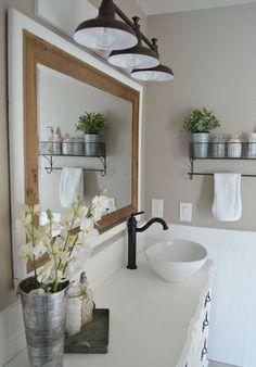Cool 88 Modern Rustic Farmhouse Style Master Bathroom Ideas. More at http://88homedecor.com/2017/12/27/88-modern-rustic-farmhouse-style-master-bathroom-ideas/