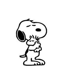 Snoopy Hugging Woodstock Vinyl Decal Sticker von TheVinylSweatshop