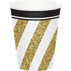 Black & Gold 9 oz Hot/Cold Cups (96/case)