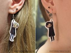 BBC+Sherlock+and+Watson+Earrings+by+IdentityProductions+on+Etsy,+$13.00