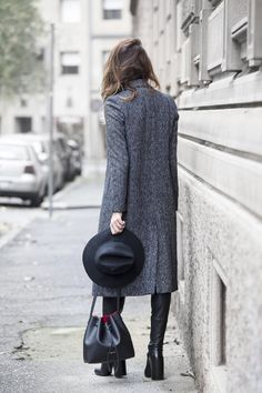 coat hat&boots#street style#