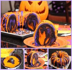 DIY Halloween Rainbow Party Bundt Cake Tutorial