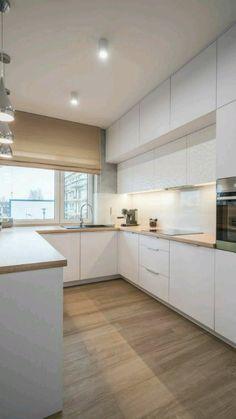 Kitchen Room Design, Kitchen Cabinet Design, Modern Kitchen Design, Kitchen Layout, Home Decor Kitchen, Interior Design Kitchen, Kitchen Ideas, Contemporary Kitchen Designs, Rustic Kitchen