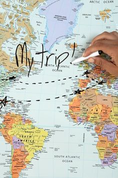 Dry Erase World Map - Urban Outfitters
