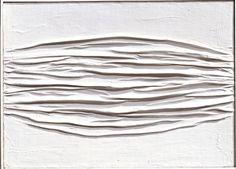 Piero Manzoni, 'Achrome,' 1958,Kaolin on wrinckled canvas, Collezione Maramotti