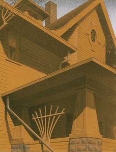 Main Street Mansion by Grant Wood.