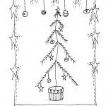 Free Primitive Winter Embroidery patterns!  These are Primitive, or Prim, or even some a little Whimsical free hand embroidery designs for you to enjoy. Simply Click on the link and print the PDF file, or click on the picture and save as an image. Have fun and enjoy stitching with these patterns!