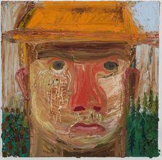 Nicole Eisenman  Crying guy II  2009  Oil on canvas  12 x 12 inches
