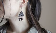 Excited to share the latest addition to my #etsy shop: Leather earrings, triangle leather earrings, boho earrings , classic style https://etsy.me/2uqW69k #jewellery #earrings #black #women #leather #earlobe #triangleearrings #giftforher #blackearrings