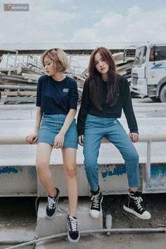Ideas dress black outfit casual jeans for 2019 Korean Fashion Trends, Korean Street Fashion, Korea Fashion, Asian Fashion, Look Fashion, New Fashion, Trendy Fashion, Girl Fashion, Fashion Outfits