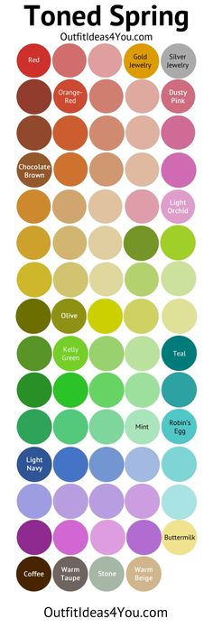 This palette has great greens, blues, and red- violets for me -j. Toned Spring / Soft Spring Color Palette
