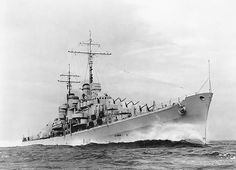"""USN - """"USS ATLANTA"""" Was a Atlanta Class Light Cruiser - Commissioned 24 December 1941 - Due to Damage Suffered During the Battle for Guadalcanal, Was Scuttled Near Kukum, Solomon Islands 13 November 1942 - Third of Her Crew was Lost Naval History, Military History, Heavy Cruiser, Capital Ship, Us Navy Ships, Armada, United States Navy, Aircraft Carrier, Ww2 Aircraft"""