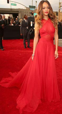 #Rihanna #RedDress