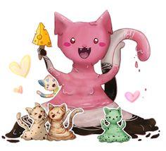 Ice cream Kitties by SpringSunshower.deviantart.com on @DeviantArt