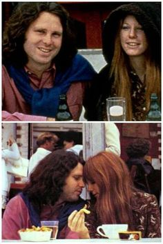 Jim Morrison and his girlfriend, Pam Courson.