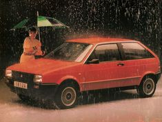 1988 Seat Ibiza  Designed by Giugiaro and the cage of the body shell was designed by Karmann. It offered either a 1.2 or 1.5 liter 4-cylinder Porsche engine mated to a 5-speed manual gearbox. The Ibiza's longer wheelbase made it easier to corner and hug the road in a surefooted yet exciting manner. Every Ibiza, from the Designer 900 to the 1.5 GLX had a one year mechanical warranty plus the unique Seat Secure Road Rescue Service.