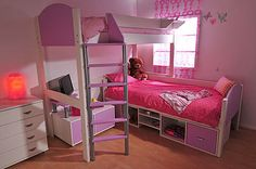 Buy the Stompa Casa Kids High Sleeper Bed in White today! FREE Delivery and a Price Match Guarantee. We offer a truly Unique Shopping Experience with Award Winning 5 Star Customer Service, Great Deals and Huge Savings! Cheap Bunk Beds, Bunk Beds Small Room, Girls Bunk Beds, Beds For Small Spaces, Bunk Beds With Storage, Modern Bunk Beds, Cool Bunk Beds, Bunk Beds With Stairs, Kid Beds