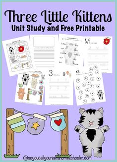 Come and grab this adorable kittens unit and free printable for your preschooler or young elementary student! :: SoYouCallYourselfaHomeschooler.com