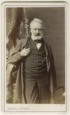Author Victor Hugo, portrait by (Albert d'Arnoux). (1870s) National Portrait Gallery, London.