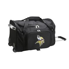 Denco Minnesota Vikings Nylon 22-inch Carry On Rolling Duffel Bag