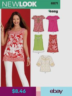 7ce2f6591811 Simplicity Sewing Patterns Crafts Top Pattern