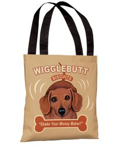 "Spotted this ""Wigglebutt"" Tote Bag on Rue La La. Shop (quickly!)."
