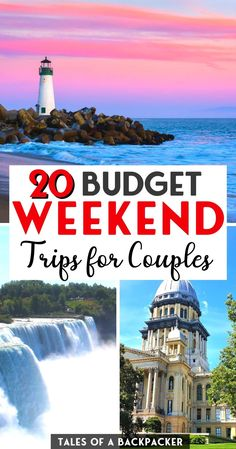 20 Budget Weekend Trips for Couples in the USA - Do you need a weekend away with your other half? Check out these recommendations for the best cheap weekend getaways for couples in the USA - perfect for a romantic weekend away on a budget! | Budget Travel | Couples Travel | Weekend Getaways in the USA | Cheap Weekends Away | Cheap Valentines Getaways in the USA