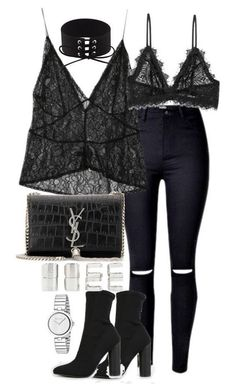 A fashion look from November 2016 featuring StyleNanda, destroyed jeans and Anine Bing. Browse and shop related looks. Komplette Outfits, Grunge Outfits, Polyvore Outfits, Stylish Outfits, Polyvore Fashion, Fashion Outfits, Fashion Trends, Stylish Eve, Fashion Bloggers
