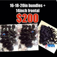 @Divas_own  Shop http://ift.tt/1O7fDO1 Full frontal closure with 3 bundles of brazilian body wave only $200!