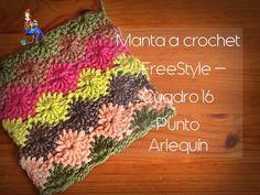 Manta a crochet Freestyle cuadro 16: punto arlequín (diestro)