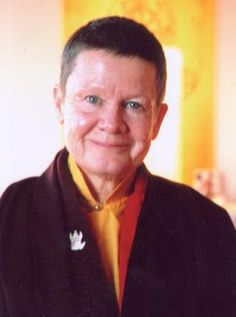 Ani Pema Chödrön . One of the first western women to become fully ordained as a Buddhist monastic