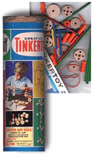 I always went straight for this old set of Tinker Toys whenever we went to my Grandpa's house in Michigan.