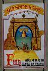 Vintage Santa Barbara California Fiesta Old Spanish Days Poster 1976 - 1976, BARBARA, CALIFORNIA, DAYS, Fiesta, Poster, Santa, spanish, Vintage