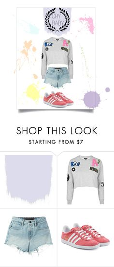 """""""CRY BABY"""" by josefinaherr on Polyvore featuring moda, Topshop, T By Alexander Wang y adidas Originals"""