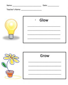 Glow And Grow Strategy  Students Summative Assessment And Teacher