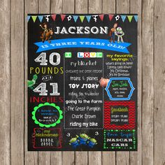 Toy Story Birthday Printable Chalkboard Sign - Toy Story Birthday