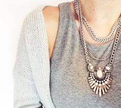 Join me to win the Win the Art Deco Style Statement Necklace from Happiness Boutique!