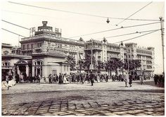 Ramle Tramway Station & Cecil hotel - Alexandria In 1930's  by Tulipe Noire