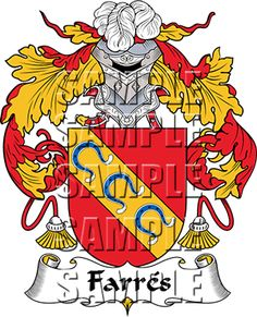 Farres Family Crest apparel, Farres Coat of Arms gifts