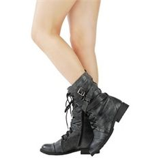 Diva Lounge Tina02 Black Military Mid Calf Boots and Womens Fashion $27.03 my-imagination-style