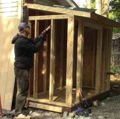 Every thought about how to house those extra items and de-clutter the garden? Building a shed is a popular solution for creating storage space outside the house. Whether you are thinking about having a go and building a shed yourself Building A Storage Shed, Storage Shed Plans, House Building, Lean To Shed Plans, Diy Shed Plans, Backyard Sheds, Outdoor Sheds, Backyard Projects, Outdoor Projects