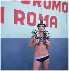 Elsa Martinelli in AutoDrome in Rome 1967