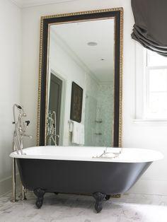 bathroom ; clawfoot tub ; freestanding tub ; bathtub ideas | Amy Morris Interiors ; Atlanta, GA ; interior design