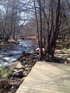 Creekside deck