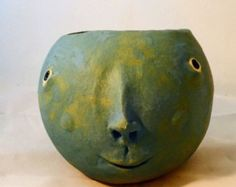 Face Planter Red by MuddyRiverClay on Etsy