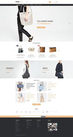 Handbags Online Store #Magento #template. #themes #business #responsive #webshop