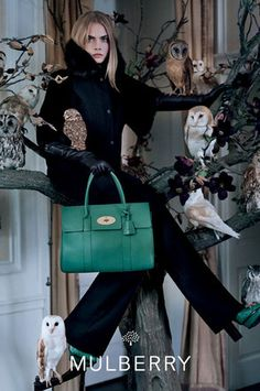 Love the birds © Tim Walker for Mulberry #timwalker #fashion #photography #mulberry